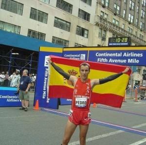 Pedro Esteso es de los pocos atletas con una marca por debajo de 4 minutos en la Milla de Nueva York